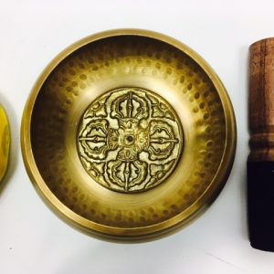 "4 ½"" (Solar Plexus) Brass Hammer Finished Mantra Singing Bowl - 0.45kg"