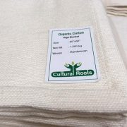 Natural 100% Organic Cotton Handwoven Heavy Yoga Blanket (2M X 1.5M - 1.5KG) - Made In India_CulturalRoots_2