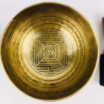 """7 1/2"""" (Heart Chakra) Traditional Hand Made Carved Tibetan Sound Healing Singing Bowl - 1.05 kg"""