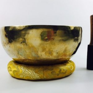 "9"" (Sacral / 3rd Eye Chakra) Traditional Hand Made Tibetan Sound Healing Singing Bowl - 1.55 kg ॐ"