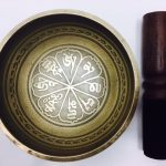 """4"""" – (Heart Chakra) STUNNING CARVED BRONZE MIX NEPALESE SINGING BOWL – Made In Nepal"""
