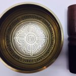 "4"" – (Heart Chakra) STUNNING CARVED BRONZE MIX NEPALESE SINGING BOWL – Made In Nepal"