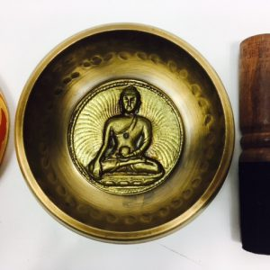 "4 ½"" (Sacral Chakra) Brass Hammer Finished Mantra Singing Bowl - 0.45kg"