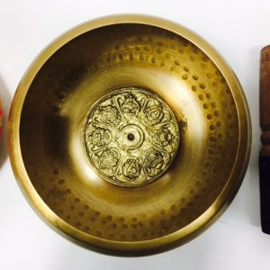 "5"" (Root Chakra) Brass Hammer Finished Mantra Singing Bowl - 0.75kg"
