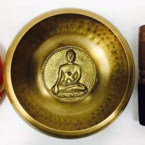 "5"" (Crown Chakra) Brass Hammer Finished Mantra Singing Bowl - 0.75kg"