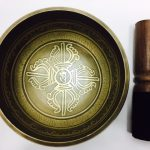 """5"""" – STUNNING CARVED BRONZE MIX NEPALESE SINGING BOWL – Made In Nepal"""