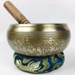 """5.5"""" - (Sacral Chakra) STUNNING CARVED BRONZE MANTRA MIX NEPALESE SINGING BOWL - Made In Nepal (Copy)"""