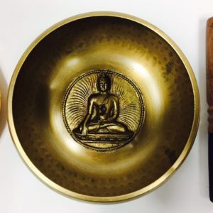 "6"" (Solar Plexus) Brass Hammer Finished Mantra Singing Bowl - 1kg"