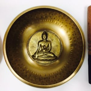 "6"" (Heart Chakra) Brass Hammer Finished Mantra Singing Bowl - 1kg"