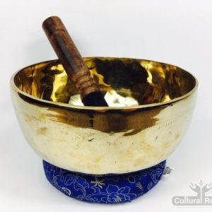 "7"" (Throat Chakra) Traditional Hand Made Tibetan Sound Healing Singing Bowl - 730g"
