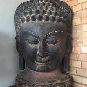CultualRoots_16kg (1 M) Vintage Hand Crafted Buddha Mask Wall Hanging Nepalese Buddhist Yoga Art_1