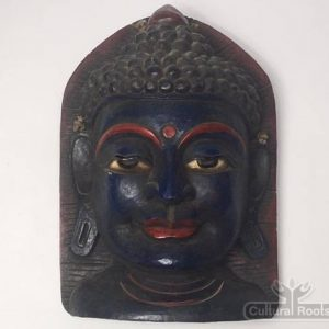 CultualRoots_Beautiful Vintage Hand Crafted Buddha Mask Himalayan folk Art_VC7_1