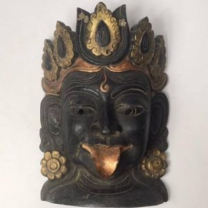 CultualRoots_Beautiful Vintage Hand Crafted Kali Mask Himalayan folk Art_1
