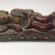 CultualRoots_Beautiful Vintage Hand Crafted Sleeping Buddha Himalayan folk Art_VC9_6