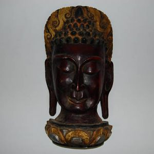 CultualRoots_Beautiful authenticated vintage hand crafted Buddha mask wall hanging Nepalese buddhist folk yoga art_1