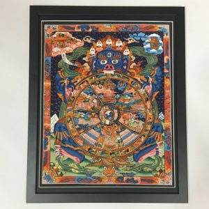 CultualRoots_Tibetan Buddhist Thangka art framed painting_1