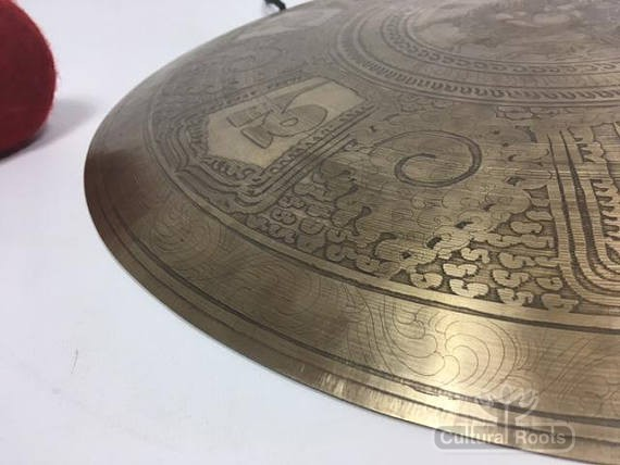 "Cultural-Roots-18""-(Sacral)-Beautiful-Nepalese-Carved-Healing-Gong-2.2kg_4"