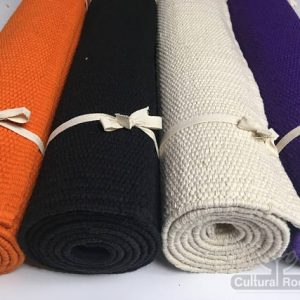 Cultural-Roots-Yoga Mat _ Rug (7.5mm) - Handwoven Organic Cotton - Anti Skid Natural Rubber Underside_1