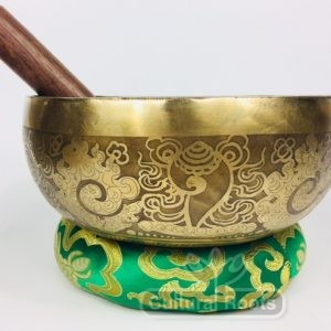 "8"" (3rd Eye / Sacral Chakra) Traditional Hand Made Tibetan Sound Healing Singing Bowl - 1.13 kg ॐ"