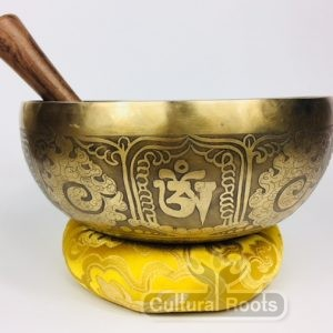"8 1/2"""" (Throat / Sacral Chakra) Traditional Hand Made Tibetan Sound Healing Singing Bowl - 1.55 kg ॐ"