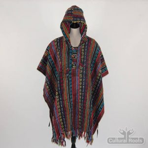 Unisex heavy 100% brushed cotton hooded Poncho - festival garden hippy night wear - Made In Nepal_13