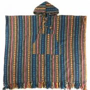 Unisex heavy 100% brushed cotton hooded Poncho - festival garden hippy night wear - Made In Nepal_15