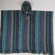 Unisex heavy 100% brushed cotton hooded Poncho - festival garden hippy night wear - Made In Nepal_18