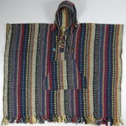 Unisex heavy 100% brushed cotton hooded Poncho - festival garden hippy night wear - Made In Nepal_2