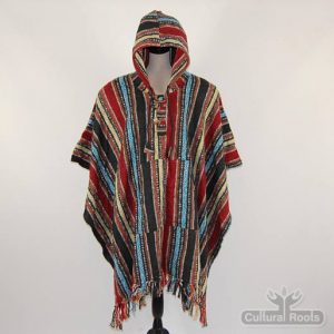 Unisex heavy 100% brushed cotton hooded Poncho - festival garden hippy night wear - Made In Nepal_4
