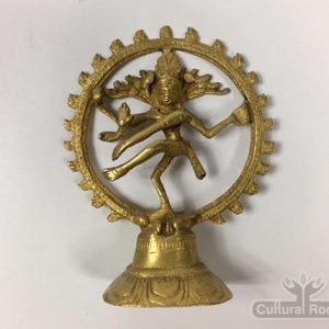 "cultural_roots-5"" Dancing Shiva Nataraja - Sold Brass Statue 200g - Made In Nepal_1"