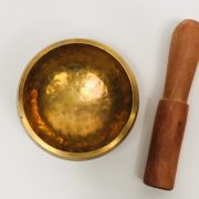 "cultural_roots_3"" (Root Chakra) Brass Hammer Finished Singing Bowl - 0.23kg_2"