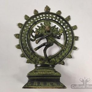 "cultural_roots_8"" Dancing Shiva Nataraja - Sold Brass Statue 1.15kg - Made In Nepal_1"