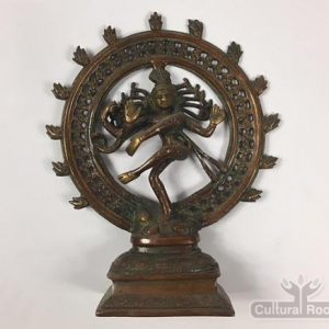 "cultural_roots_9"" Dancing Shiva Nataraja - Sold Brass Statue 1.75kg - Made In Nepal_1"