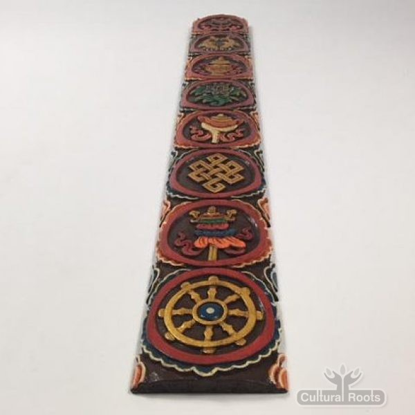 cultural_roots_Tibetan Wood Craft Wall Hanging - Hand Carved And Painted_1