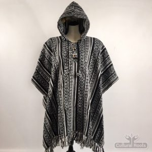 cultural_roots_Unisex heavy 100% brushed cotton hooded Poncho_1