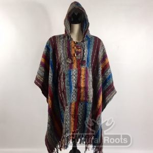 cultural_roots_Unisex heavy 100% brushed cotton hooded Poncho_2.1