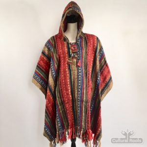 cultural_roots_Unisex heavy 100% brushed cotton hooded Poncho_3.1