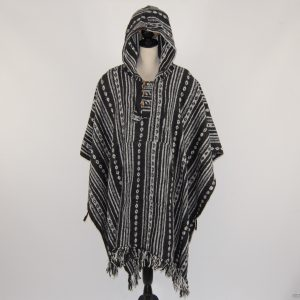 cultural_roots_Unisex heavy 100% brushed cotton hooded Poncho_4.1