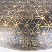 "18"" (Root Chakra) Beautiful Nepalese Carved Gong - Flower Of Life - 2.2 kg ॐ"