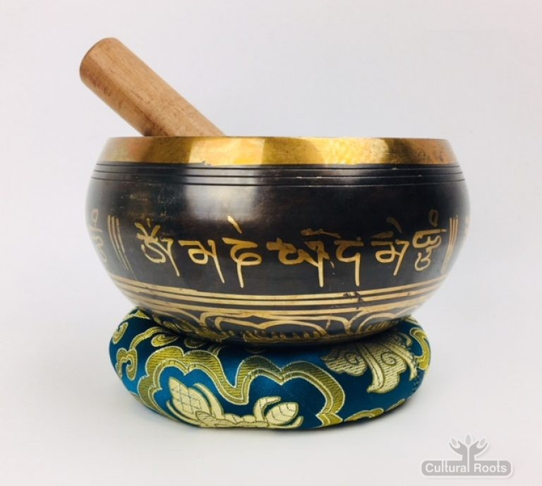 "6"" (Solar Plexus) Brass Etched Singing Bowl - 1.1kg"