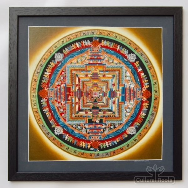 Tibetan Mandala Thangka Art - Authentic Framed Buddhist Painting - Lanam Lama