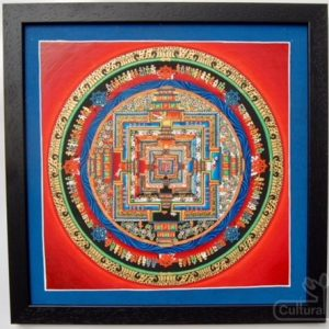 Tibetan Mandala Thangka Art - Authentic Framed Buddhist Painting - Student