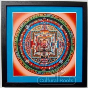 Tibetan Mandala Thangka Art - Authentic Framed Buddhist Painting - Chandra Lama