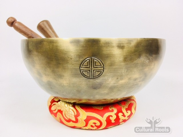 """10 1/2"""" (Root Chakra) Hand Made Moon Bowl Sound Therapy Singing Bowl - 2 kg ॐ"""