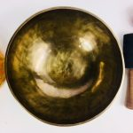 """9"""" (Sacral) Hand Made Moon Bowl Sound Therapy Singing Bowl - 1.6 kg ॐ"""