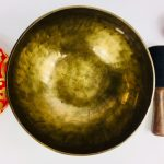 """9"""" (Root Chakra) Hand Made Moon Bowl Sound Therapy Singing Bowl - 1.56 kg ॐ"""