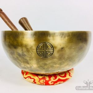 "9"" (Root Chakra) Hand Made Moon Bowl Sound Therapy Singing Bowl - 1.56 kg ॐ"