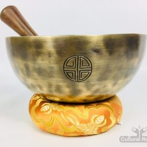 "8"" (Sacral) Hand Made Moon Bowl Sound Therapy Singing Bowl - 1.1 kg ॐ"