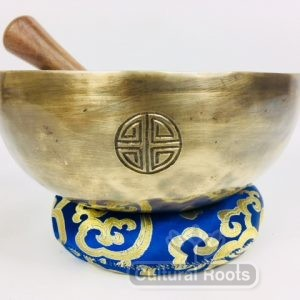 "8"" (Throat Chakra) Hand Made Moon Bowl Sound Therapy Singing Bowl - 1.03 kg ॐ"