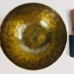"8"" (Root Chakra) Hand Made Moon Bowl Sound Therapy Singing Bowl - 1.03 kg ॐ"